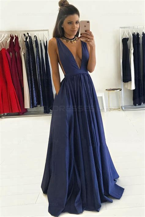 blue low v neck prom dresses evening gowns 3020274