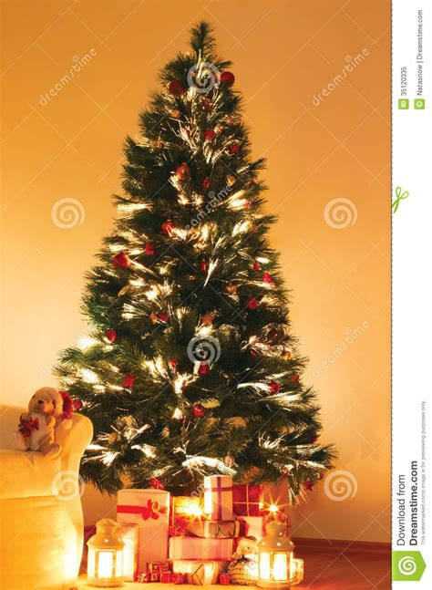 presents under christmas tree stock image image 35120335