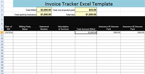 invoice tracking spreadsheet template invoice tracking template hardhost info