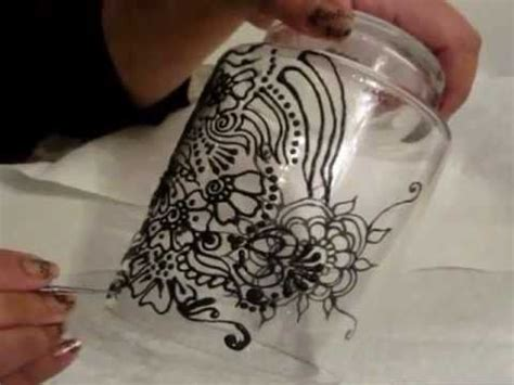 henna design on glass henna design on glass with glass painting crafts