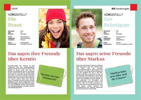 Abibuch Design Vorlagen Aufbau Und Beispiel Einer Hochzeitszeitung