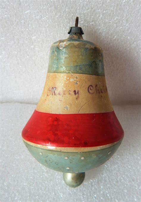 antique vintage patriotic colors bell christmas ornament w