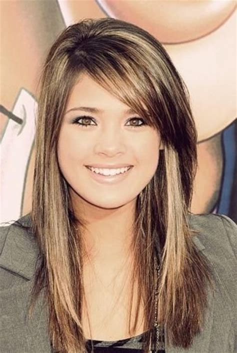 hairstyle for long hair with a swoop bang long hair with sweeping bangs for your hairdo clever