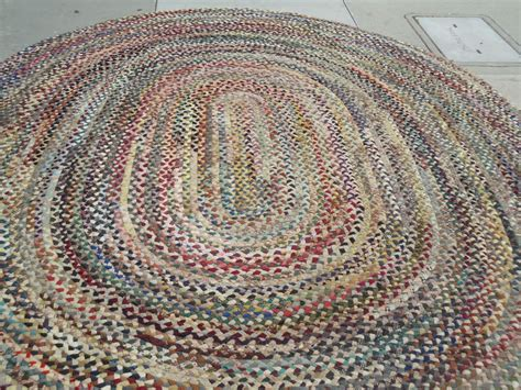Fantastic Oval Large Multi Colored Wool Braided Rug At 1stdibs Braided Rugs