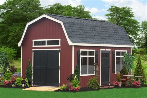 buy large outdoor sheds   amish  pa large