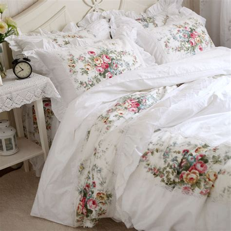 Lace Bedding Sets New Pastorale Ruffle Lace Bedding Set Princess Bedding Matching Duvet Cover Flower