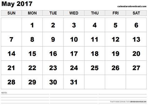 May 2017 Calendar May 2017 Calendar