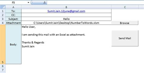 format email vba excel vba send a excel workbook as attachment in mail