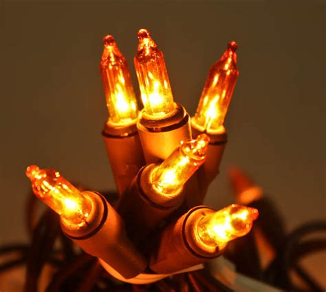 Amber Bulb And Brown Cord String Lights String Lights Electric String Lights