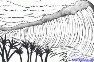 Similiar Tsunami Coloring Keywords sketch template