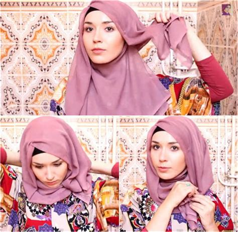 tutorial hijab wisuda simple paris tutorial gambar hijab paris simple search results