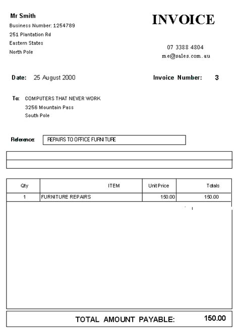 standard invoice template free blank standard invoice template sle vlashed