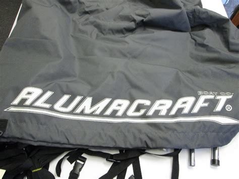 alumacraft boat covers by dowco charcoal canvas boat cover for alumacraft boats 14 x 68