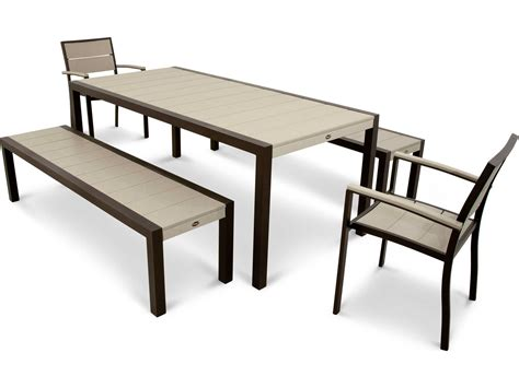trex bench trex 174 surf city recycled plastic 5 piece bench dining set