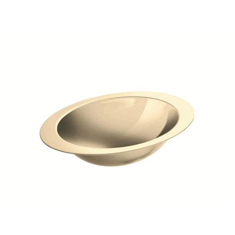 oval stainless steel bathroom sinks shop kohler rhythm mirror french gold stainless steel