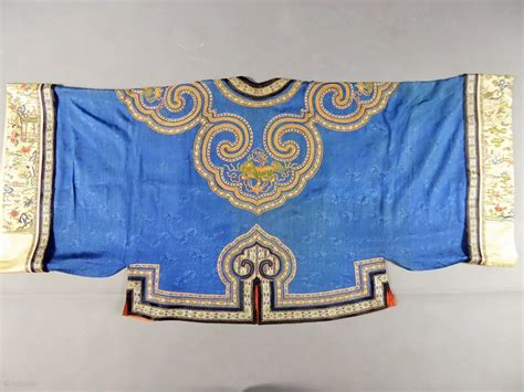 Dijamin Jacket Qing Blue informal jacket for 19c qing dynasty with s badges excellent condition
