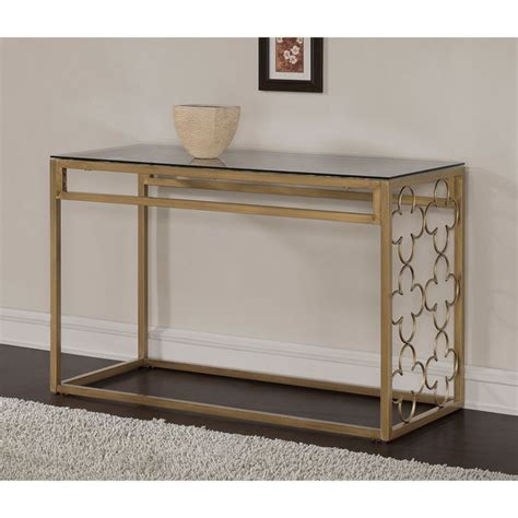 Quatrefoil Console Table Quatrefoil Goldtone Metal And Glass Sofa Table Clear Sofa End Tables Metals And Shopping