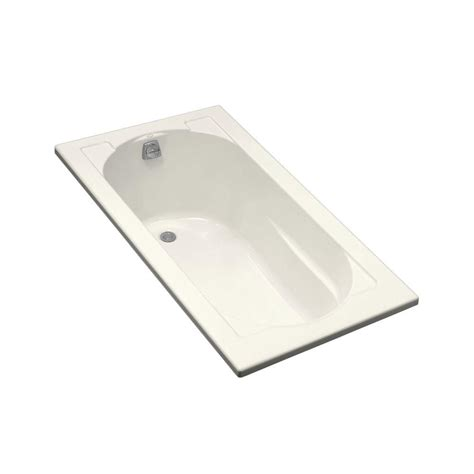 kohler acrylic bathtub kohler devonshire 5 ft reversible drain drop in acrylic