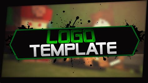 minecraft logo template youtube