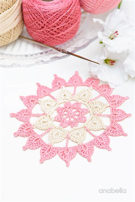 Anabelia Craft Design Crochet Lace Motifs In Pink And anabelia craft design lovely and easy to do new crochet