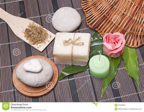Handmade Soap Ingredients - handmade soap with ingredients stock photography