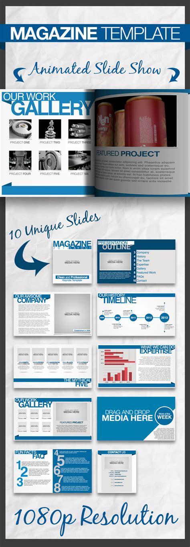 Magazine Keynote Presentation Template By Slidemaster Graphicriver Magazine Presentation Template