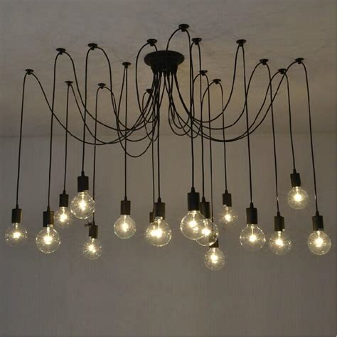 Diy Edison Bulb Chandelier Diy Removable Edison Bulb Multicipital Glass Black Chandelier From China Manufacturer Lonwing