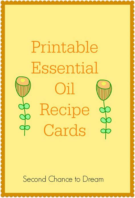 printable essential oil recipes doterra oil health and a class on pinterest
