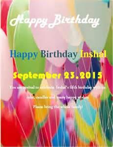 Happy Birthday Flyer Template by Sle Birthday Flyer Template Formal Word Templates