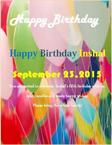 sle birthday party flyer template formal word templates
