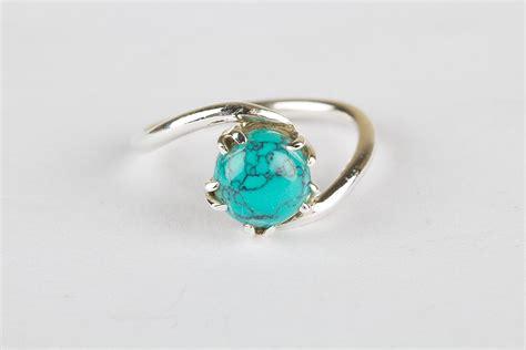Handmade Turquoise Rings - handmade 925 sterling silver turquoise ring silver