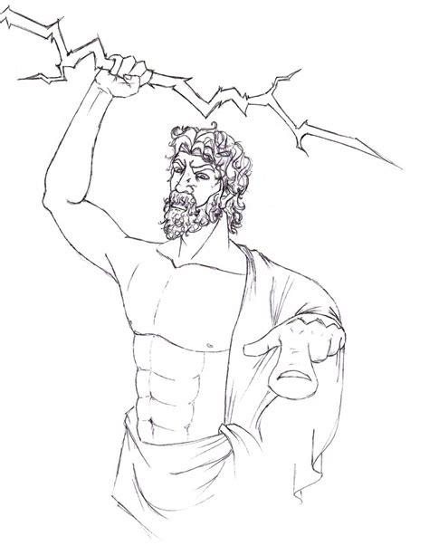 Zeus Greek God Coloring Pages Newhairstylesformen2014 Com Zeus Coloring Page
