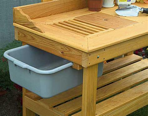 wood potting bench  plans
