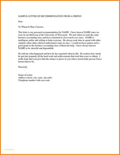 How To Write A Personal Resume by 10 How To Write A Personal Letter Of Recommendation
