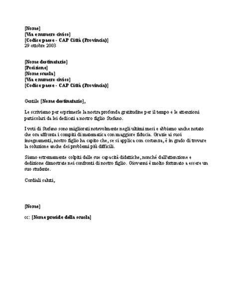 lettere di ringraziamento formale lettere office