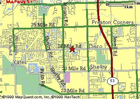 shelby township mi map map to peace