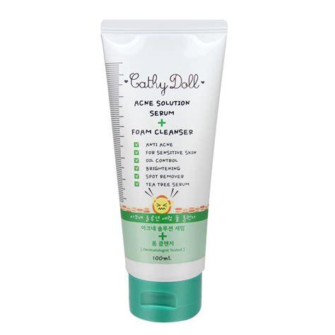 Acne Gluta Foam cathy doll acne solution serum foam cleanser 100ml review