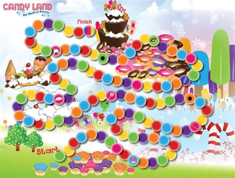 candyland board template 7 best images of printable candyland board layout
