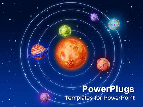 free universe powerpoint themes powerpoint template solar system with sun in the center