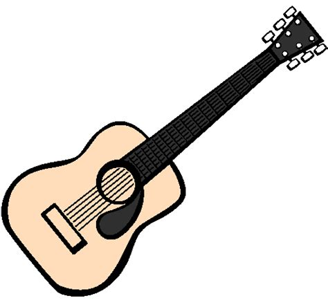 spanish guitar coloring page colored page spanish guitar ii painted by kenny