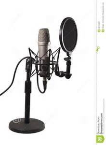 microfone de condensador da mesa fotografia de stock
