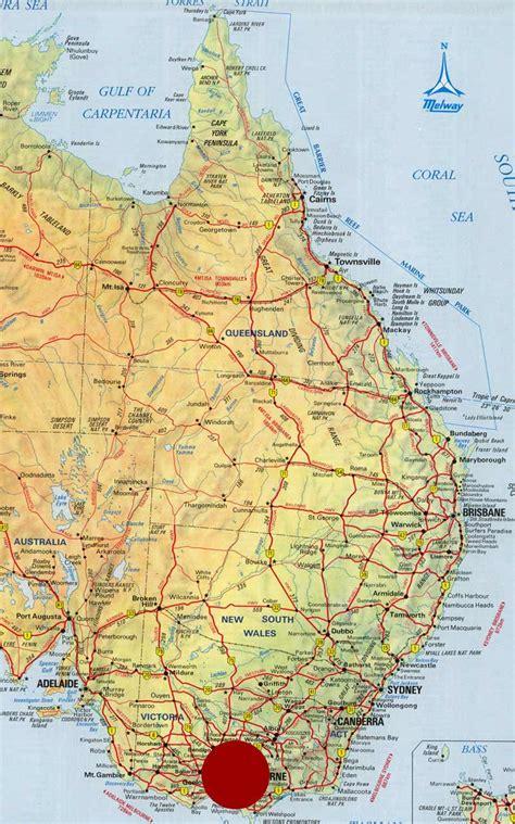 map of eastern australia map of east australia