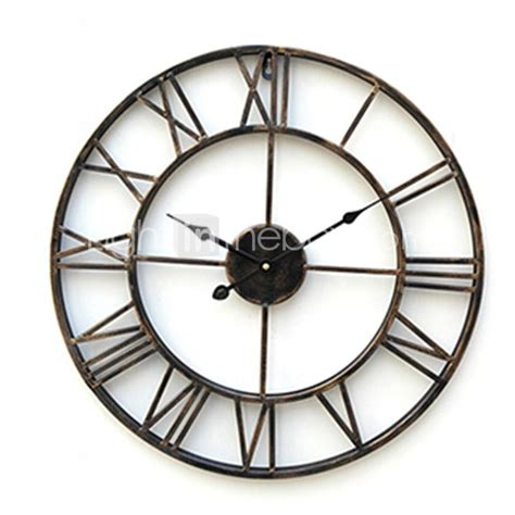 country style wall clocks 20 quot country style metal wall clock