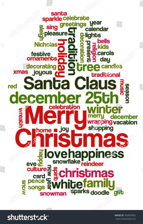 words that describe christmas conceptual tag cloud words related stock vector 163050392