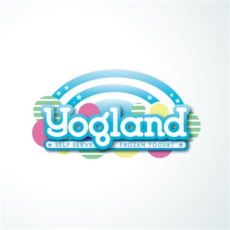 elegant playful logo designs  yogland  business