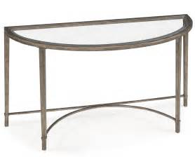 Metal Sofa Table Glass Top Demilune Console Table With Metal Legs And Base For Small Hallway Spaces Ideas