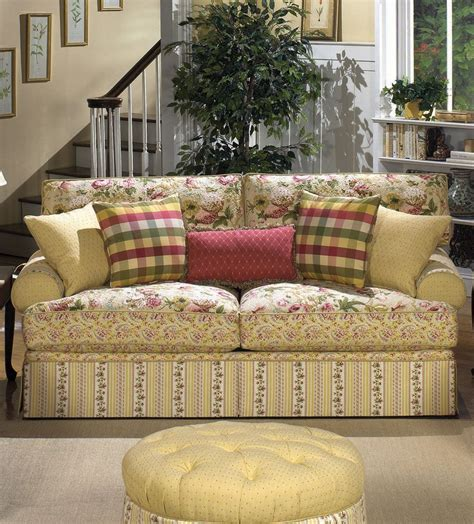 floral fabric sofa cottage floral sofa i m getting so i just adore sofas