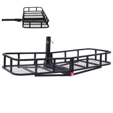 Rear Hitch Rack by Large Rack Cargo Luggage Carrier Basket Car Rear Hitch
