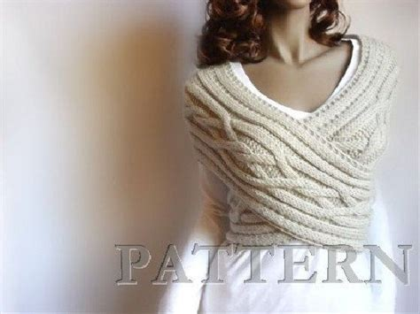 etsy pilland pattern knitting pattern women cabled sweater criss cross vest and