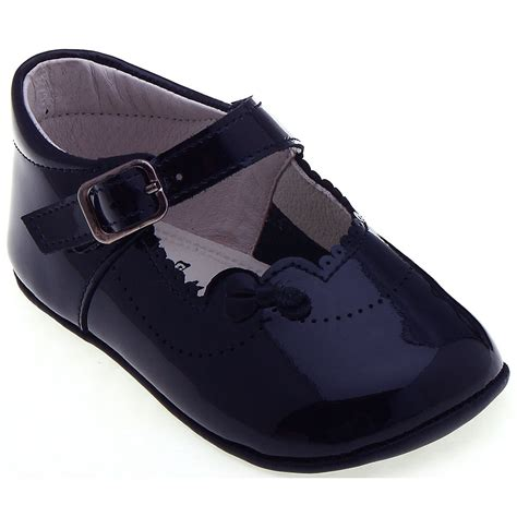 navy baby shoes baby navy pram shoes in patent leather cachet